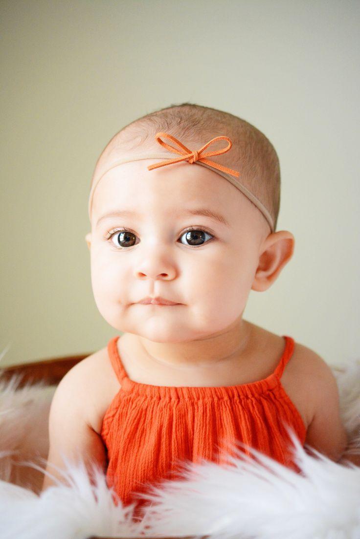 Nylon Headbands Newborn Gift Leather Bow Baby Headband Baby Girl Gift Newborn Photo Accessories Bow Headbands