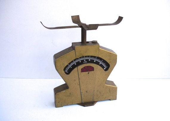Vintage GENCO Scales Vintage Weighing Scales 0 to by FillyGumbo