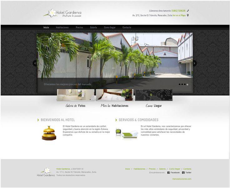 Proyecto concretado para el Hotel Gardenia.com.ve  Este proyecto tiene como objetivo dar a conocer sus instalaciones junto a un conjunto de beneficios para que el cliente disfrute de su estadía. Mostrándonos en su web una galería amplia fotográfica, incluyendo sus costos, beneficios y ubicación del mismo.
