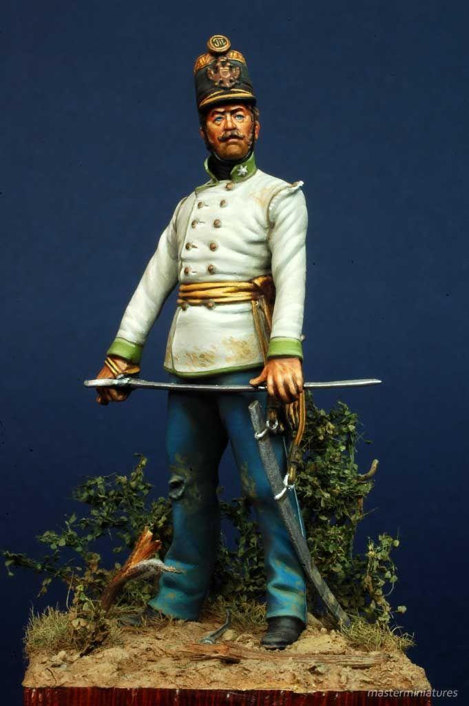 Ufficiale 9° Rgt Fanteria FZM Graf Hartman Klarstein, Magenta 1859 - Virtual Museum of Historical Miniatures