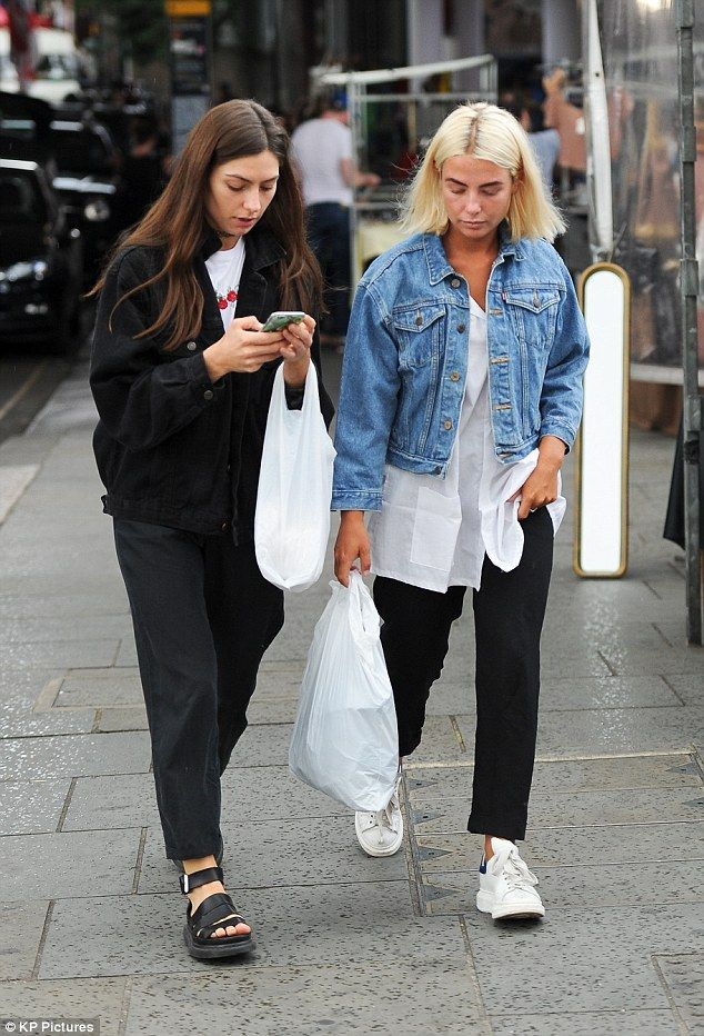 Relaxed:Jess Woodley enjoyed some downtime as she went shopping with friends at a vintage...