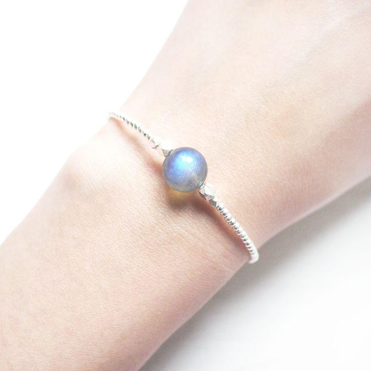 Small Universe -  Labradorite 925 sterling silver bracelet