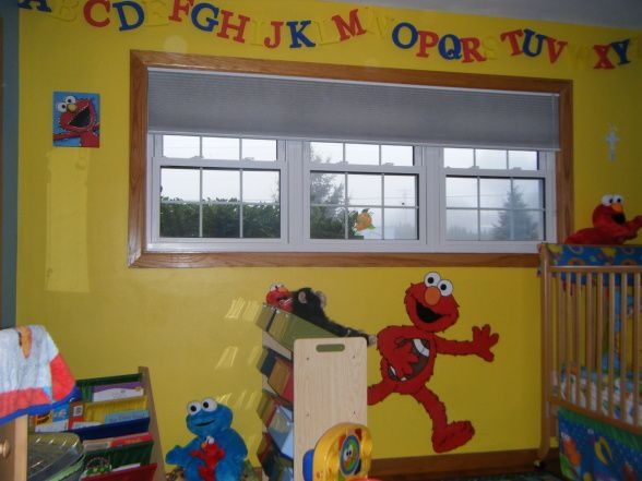 low budget but cute sesame street bedroom all things elmo