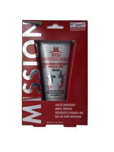 MISSION Skincare Maximum Strength Muscle Rub Pain Relieving Gel, 2.5-Ounce Box by Mission Skincare. Save 51 Off!. $4.87. Maximum Strength Muscle Rub provides triple-strength, deep-penetrating and long-lasting relief along with Arnica flower and our proprietary M-10 blend of 6 Vitamins (A, B6, C, D3 and K) and 4 Antioxidants (Goji, Acai, Pomegranate, and Cranberry) to provide you with the same high-performance formula the pros use.