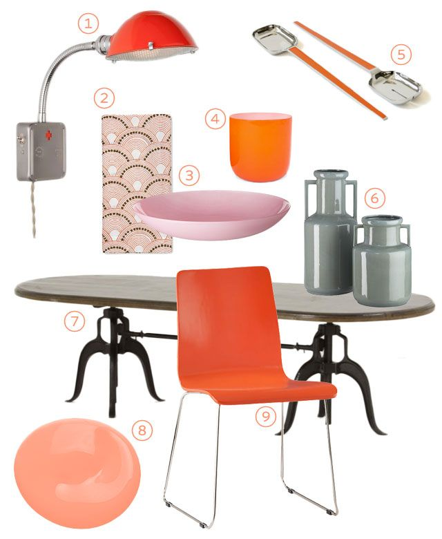 6 Tips To Using Coral In The Kitchen: Best 25+ Orange Dining Room Ideas On Pinterest