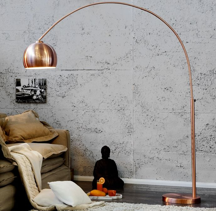 Koperen staande lamp - I Love My Interior