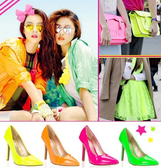 The Korean Neon Fashion Styling Trends 2014