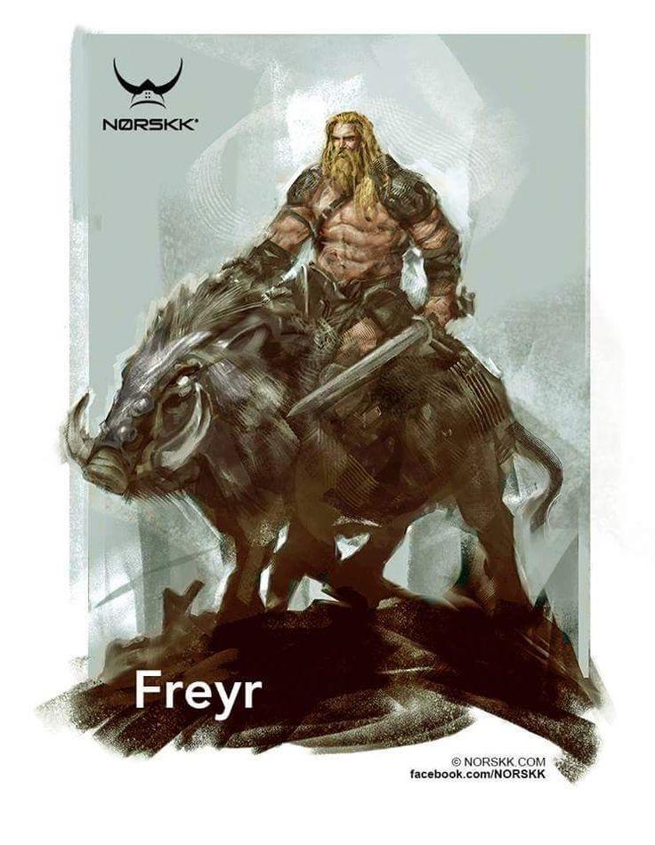 Freyr, God of prosperity and fertility.