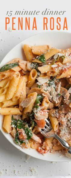 Penne Rosa: a 15 minute dinner recipe! Perfect for those busy weeknights! Wholefully