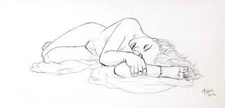Image result for sketches of women laying down