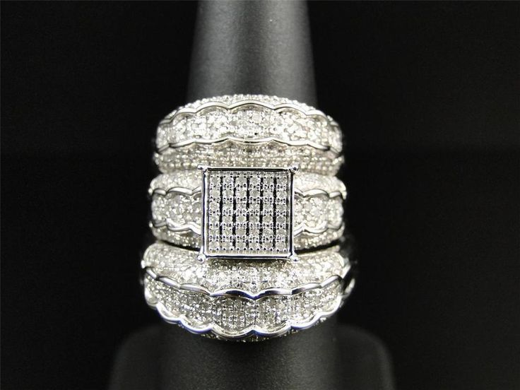 102 best Trio Ring Set 14k Gold Over images on Pinterest Wedding