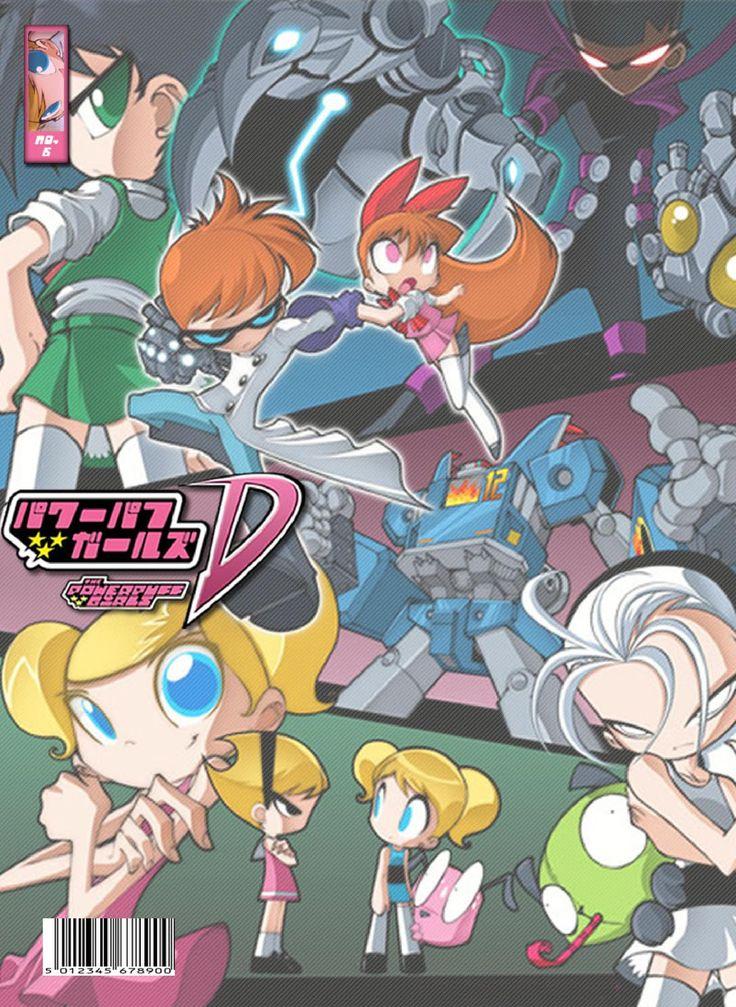 PowerPuff Girls D 06  Comic estilo Manga, este crossover combina varias series animadas americanas (como del Cartoon Network, Nickelodeon, entre otros). Capitulo 06, visitanos en www.bleedman.maneko.cl
