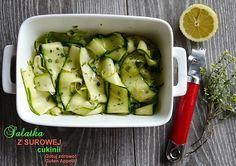 Salatka z surowej cukinii-pyszna