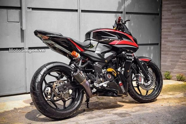 Bajaj Pulsar 200ns Gets Sugomi Slash Modified To Look Like The