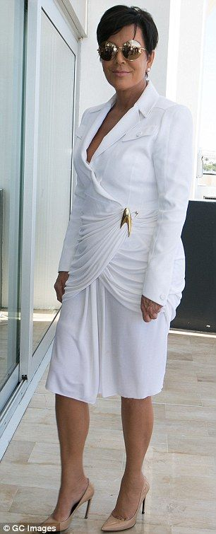Kris Jenner and toyboy lover Corey Gamble wear matching white outfits