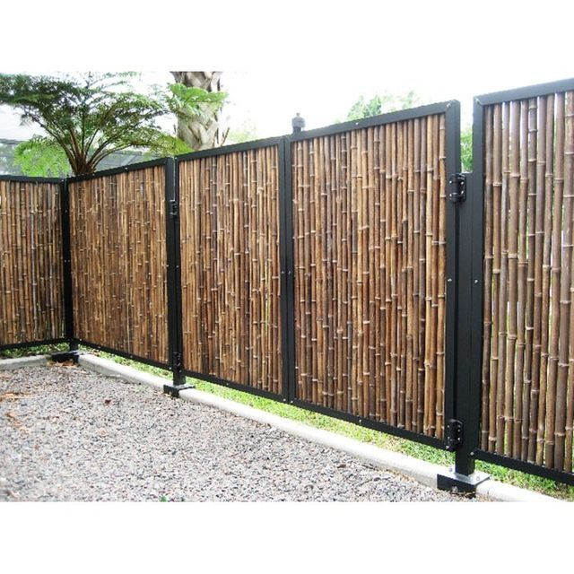 Pin By C A S E Y On Home Bamboo Fence Garden Fence