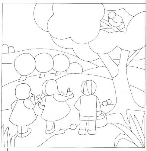 Imagen Molde cuadro patchwork sin aguja - grupos.