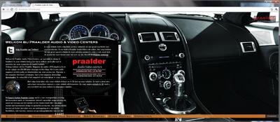 New design for Praalder, Bang & Olufsen dealer in Den Haag; www.praalder.nl