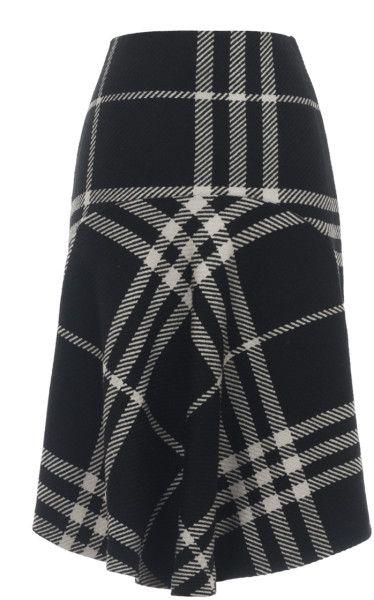 Ioana Ciolacu Triple Check Skirt in Black