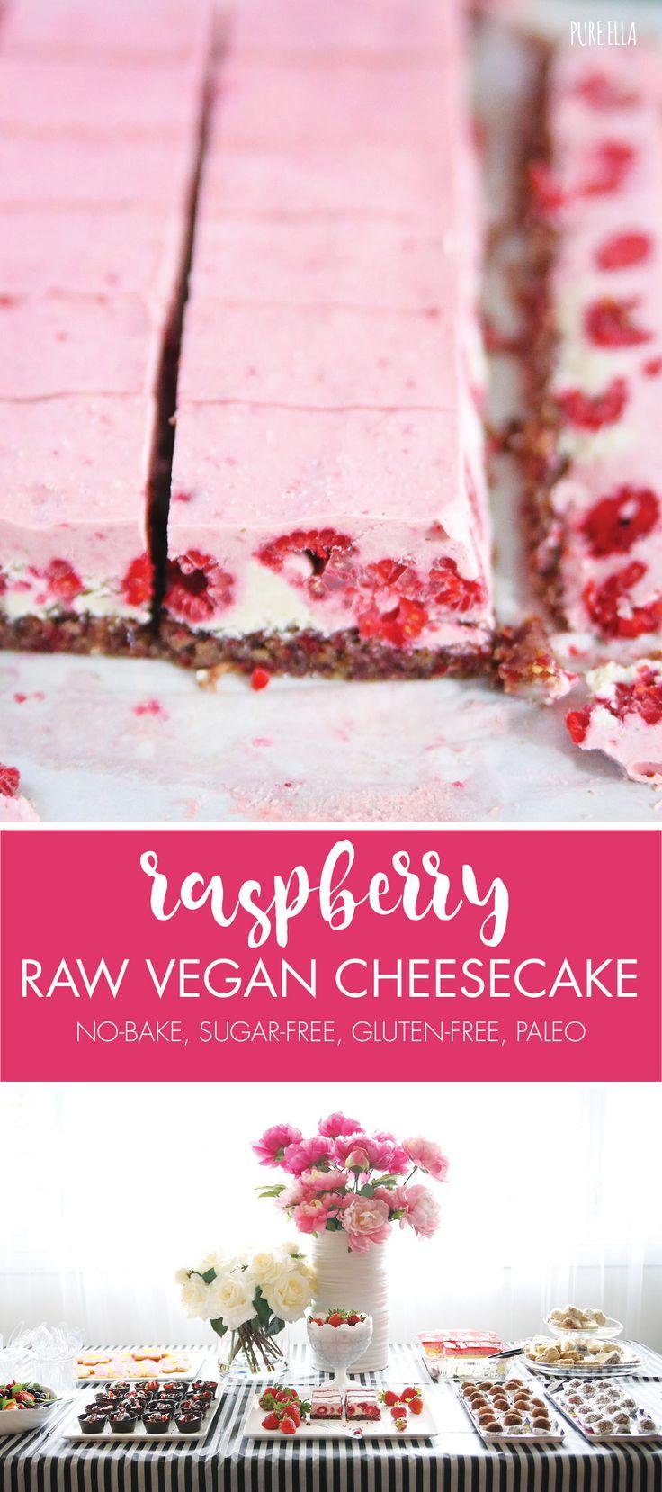 Raw Raspberry Vegan Cheesecake