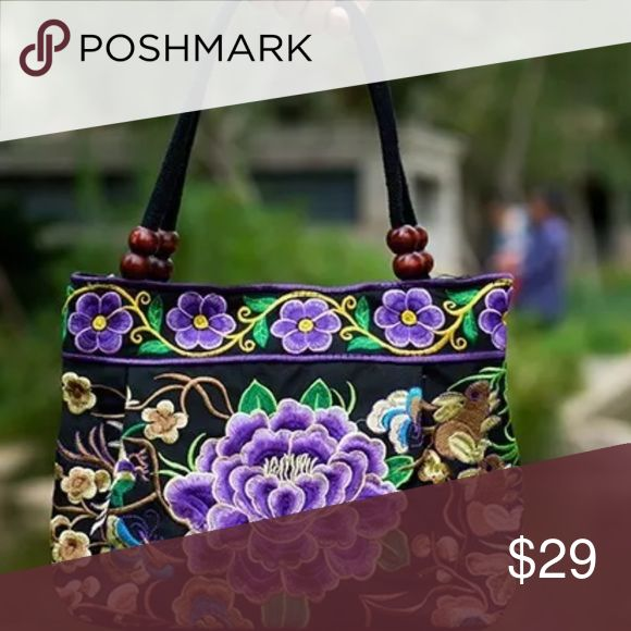 Handmade embroidered bag Just beautiful and cute light weight bag, just perfect for this season Bags Mini Bags