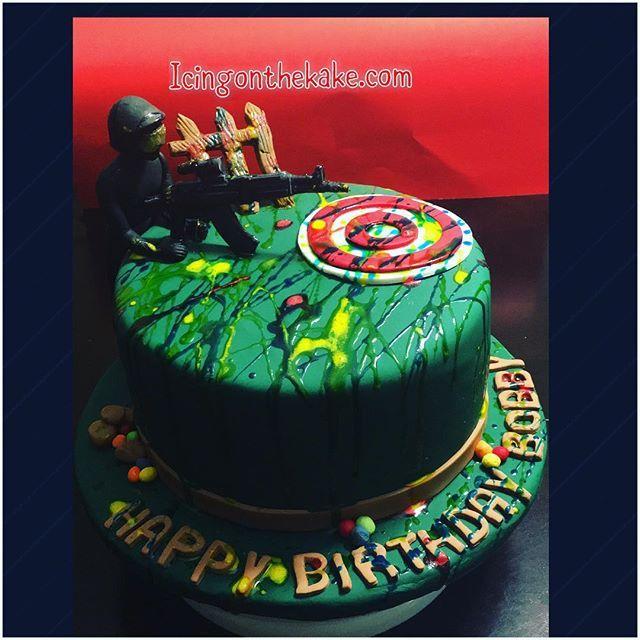 Anybody up for Paintball and Cupcake Shots?! #vanillacake #buttercreamicing #vanillafondant #lemondropcupcakes #redvelvet #paintball #everythingedible #cirocvodka #cake #fondantcake #paintballcake #icingonthekake