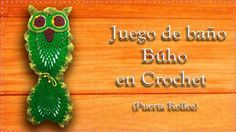 PORTA ROLLOS DE PAPEL BÚHO EN CROCHET