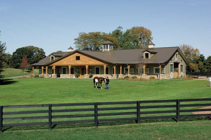 17 best images about horse barn exteriors on pinterest for Ranch style steel homes