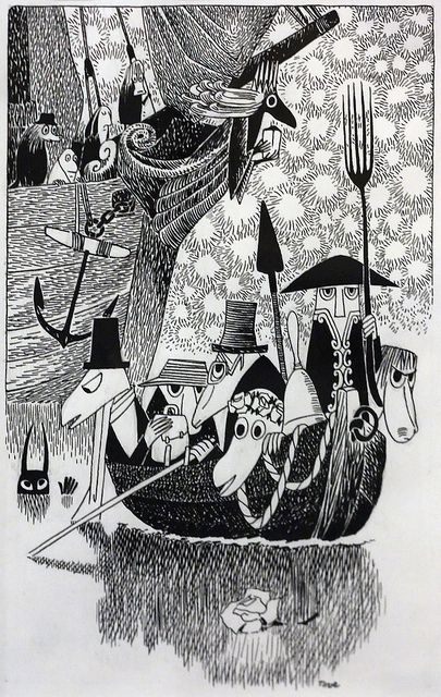 Tove Jansson's illustrations for the finnish edition of The Hunting of the Snark.