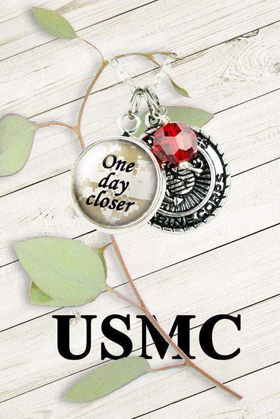 Marine Corps Necklace, USMC gift for her, Military Jewelry #marinewife # marinegirlfriend #onedaycloser #militarygift #marinelife