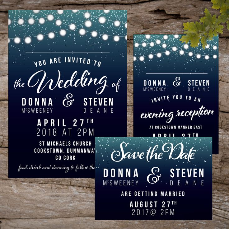 Fairy Lights Wedding InvitationsWedding Invitations to start your exciting adventure together