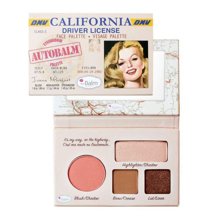 Palette de maquillage Autobalm California – 4 pièces - The Balm   beauteprivee.fr