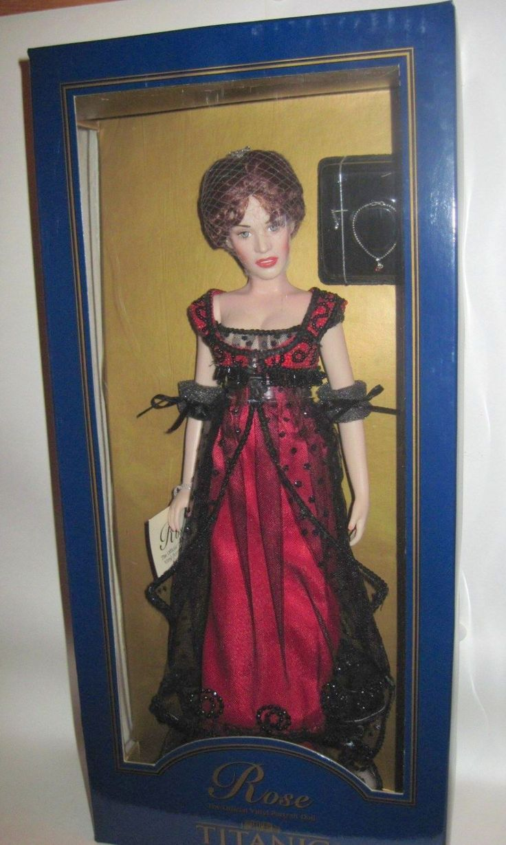 Franklin Mint Titanic Official Vinyl Portrait Rose Doll In