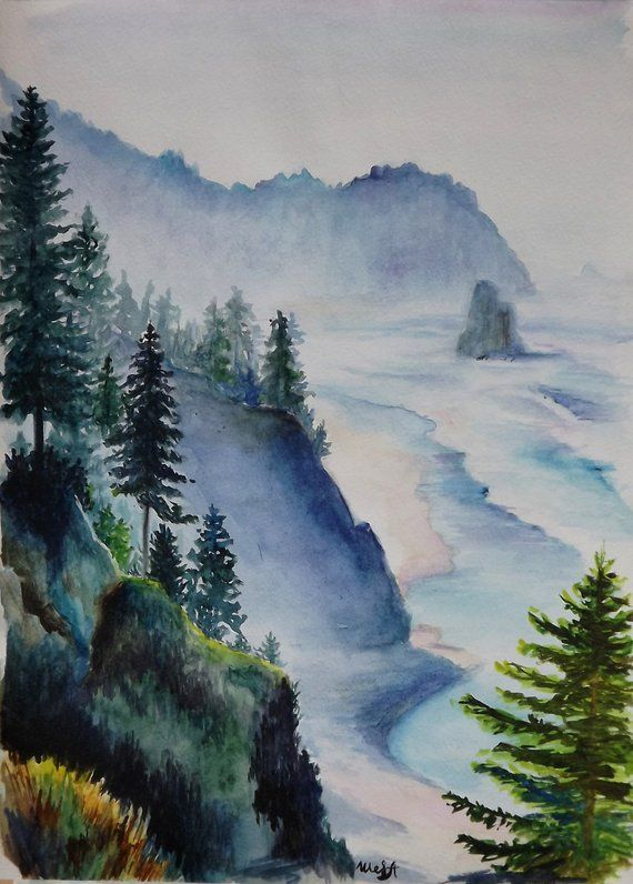 Watercolor Painting Landscape Watercolor Painting Watercolor