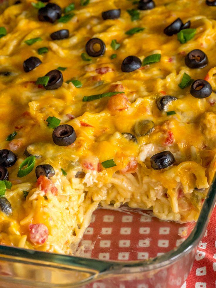Creamy Chicken Enchilada Pasta Bake Vertical 1