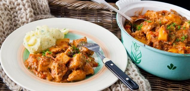 This stew cooks slowly in a low oven, improves with age and is best with relaxed company and a good bottle of red wine.