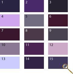 Фиолетовые оттенки для цветотипа лето