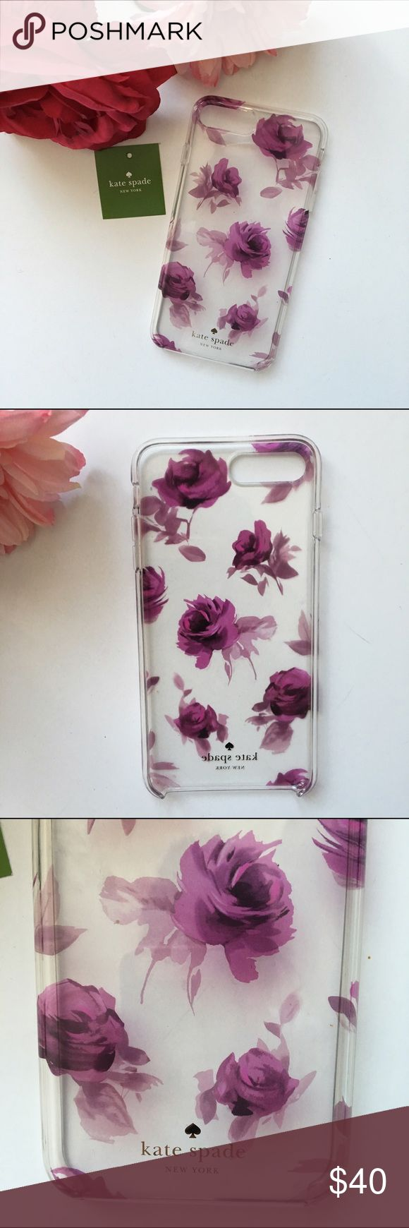 """Kate spade iPhone 7 /7 plus case- rose symphony Beautiful botanicals dance across this pretty hardshell case by kate spade new york, giving your iPhone 7 serious fresh appeal. Fits iPhone 7 2-3/4""""W x 5-1/2""""H x 1/2""""D Protective hardshell case with floral design Resin Available in iPhone 7 & 7 plus sizes. Brand new never used. Comes in new poly bag packable. kate spade Accessories Phone Cases"""