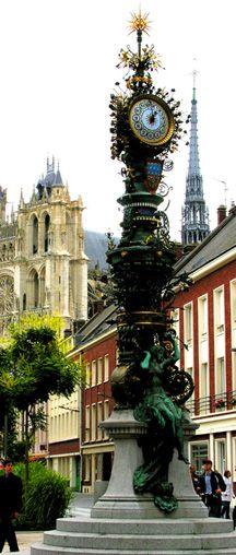 Art Nouveau Clock in Amiens, Picardie, France