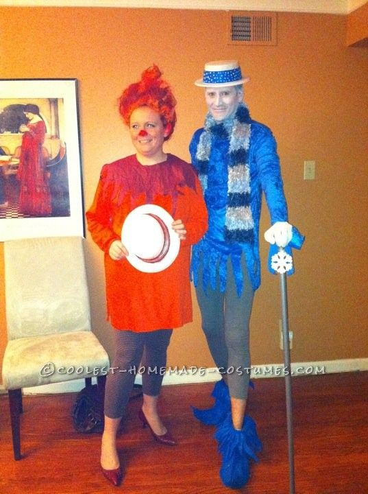 Coolest Last-Minute Heat Miser and Snow Miser Couple Costumes... This website is the Pinterest of costumes