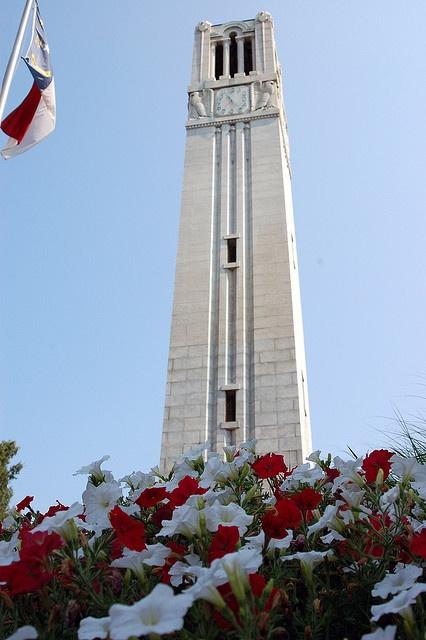 N.C. State Belltower. Always a pretty sight.