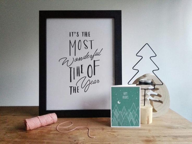 I t ' s  T h e  M o s t  W o n d e r f u l  T i m e  O f  T h e  Y e a r !  Kerstposter € 4,95  Shop nu op www.mintandmail.nl