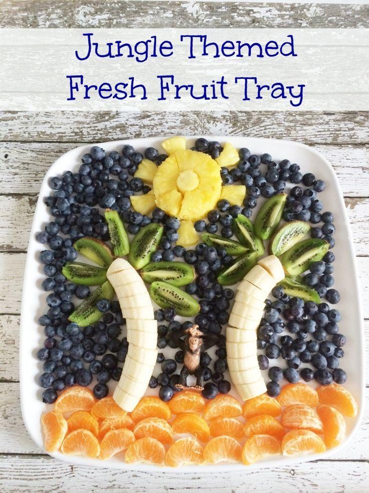 The Jungle Book Inspired Recipes: Fresh Fruit Tray and Apple Kiwi Kale Smoothies #JungleFresh