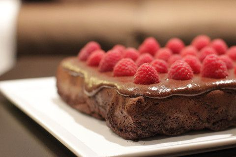 Lazy Double Choc Fudge and Raspberry Brownies | tabletoptrends.com.au