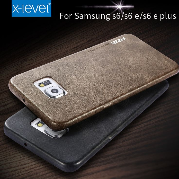 X-Level Leather Phone Case For Samsung Galaxy S6 S6 edge S6 edge plus Ultra thin PU Back case For Samsung S6 edge plus