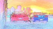 """New artwork for sale! - """" Nissan Skyline Gtr R34 R35 by PixBreak Art """" - http://ift.tt/2kSdsoP"""