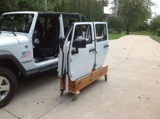 Door cart for 4 door Jeep JK
