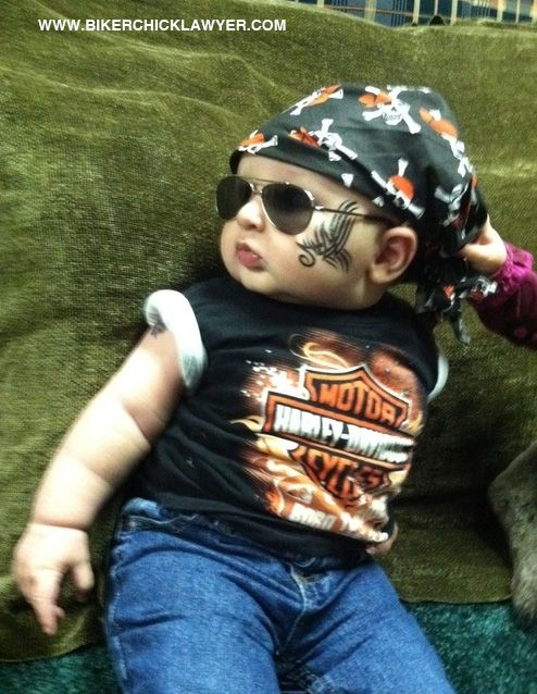 Baby Bikers Harley Davidson Motorcycles Baby Halloween