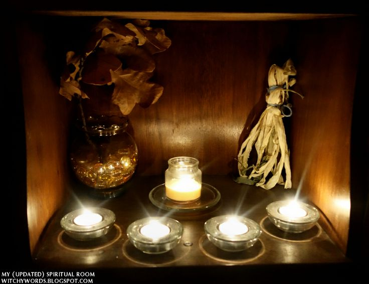 Witchy Words: My (Updated) Spiritual Room