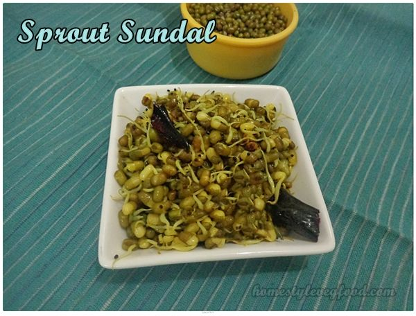 Sprout sundal - Healthy snack